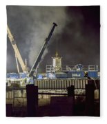 Night Time Frac Fleece Blanket
