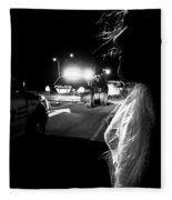 Night Traffic Stop Three Fleece Blanket