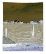 Night View Of Lafitte Bay Dauphin Island Alabama Fleece Blanket