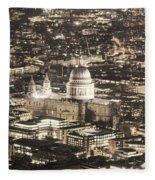 Night View Over St Pauls Fleece Blanket