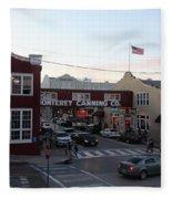 Nightfall Over Monterey Cannery Row California 5d25146 Fleece Blanket