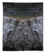 Nighttime Water Tumble Fleece Blanket