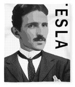 Nikola Tesla 2 Fleece Blanket