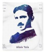Nikola Tesla Patent Art Electric Arc Lamp Fleece Blanket