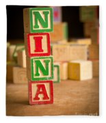 Nina - Alphabet Blocks Fleece Blanket