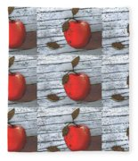 Nine Apples Fleece Blanket