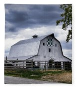 Nine Patch Quilt Barn Fleece Blanket