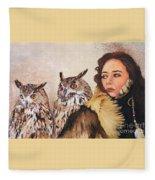 Nine Stars Woman / Wise Counsel Fleece Blanket