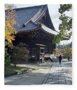 Ninna-ji Temple Compound - Kyoto Japan Fleece Blanket