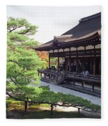 Ninna-ji Temple Garden - Kyoto Japan Fleece Blanket