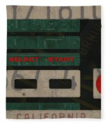 Nintendo Controller Vintage Video Game License Plate Art Fleece Blanket