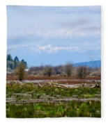 Nisqually Delta Of The Nisqually National Wildlife Refuge Fleece Blanket