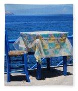 Nisyros Taverna Fleece Blanket
