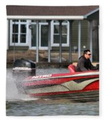 Nitro Boat Fleece Blanket