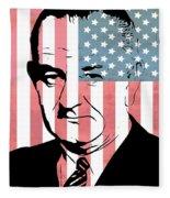 Lyndon Johnson Fleece Blanket