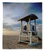 No 4 Lifeguard Station Fleece Blanket