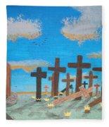 No Cross No Crown 1 Fleece Blanket