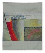 No Dumping - Drains To Ocean No 2 Fleece Blanket