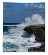 No Fishermen - Fun Sport At Laie Point Oahu North Shore Hawaii Fleece Blanket