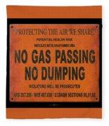 No Gas Passing Fleece Blanket