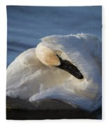 Swan Tuck Fleece Blanket