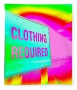 No Nudes Fleece Blanket