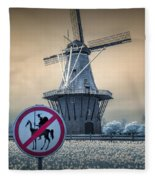 No Tilting At Windmills Fleece Blanket