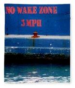 No Wake Zone Fleece Blanket