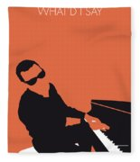 No003 My Ray Charles Minimal Music Poster Fleece Blanket by Chungkong Art