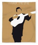 No010 My Johnny Cash Minimal Music Poster Fleece Blanket