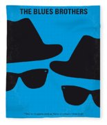 No012 My Blues Brother Minimal Movie Poster Fleece Blanket
