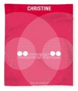 No016 My Christine Minimal Movie Poster Fleece Blanket