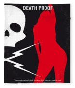 No018 My Death Proof Minimal Movie Poster Fleece Blanket
