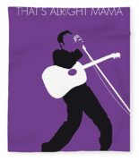 No021 My Elvis Minimal Music Poster Fleece Blanket by Chungkong Art