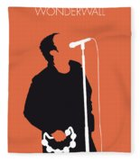 No023 My Oasis Minimal Music Poster Fleece Blanket by Chungkong Art