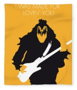 No024 My Kiss Minimal Music Poster Fleece Blanket