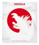 No029-2 My Godzilla 1954 Minimal Movie Poster.jpg Fleece Blanket