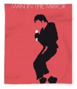No032 My Michael Jackson Minimal Music Poster Fleece Blanket