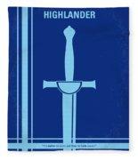 No034 My Highlander Minimal Movie Poster.jpg Fleece Blanket