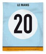 No038 My Le Mans Minimal Movie Poster Fleece Blanket