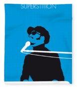 No039 My Stevie Wonder Minimal Music Poster Fleece Blanket