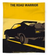 No051 My Mad Max 2 Road Warrior Minimal Movie Poster Fleece Blanket
