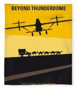 No051 My Mad Max 3 Beyond Thunderdome Minimal Movie Poster Fleece Blanket