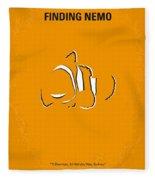 No054 My Nemo Minimal Movie Poster Fleece Blanket by Chungkong Art