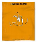 No054 My Nemo Minimal Movie Poster Fleece Blanket