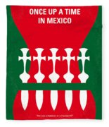 No058 My Once Upon A Time In Mexico Minimal Movie Poster Fleece Blanket