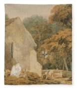 No.0735 A Country Churchyard, C.1797-98 Fleece Blanket