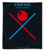 No080 My Star Wars Iv Movie Poster Fleece Blanket