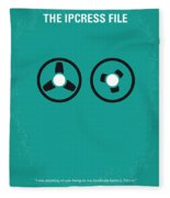 No092 My The Ipcress File Minimal Movie Poster Fleece Blanket