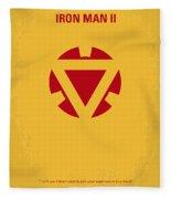 No113 My Iron Man Minimal Movie Posterno113-2 My Iron Man 2 Minimal Movie Poster Fleece Blanket